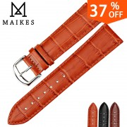 MAIKES High Quality Watch Strap Wristband Genuine Leather Watch Band 18 20 22 24mm Men Watch Accessories Watchbands For Armani