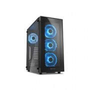 SHARKOON 2X U2, 2X U3, TEMPERED GLASS, 4X 120 LED