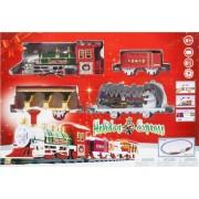 Vlak na baterije express pruga 290 cm božićni set