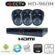 Kamerové systémy 960H s 3x dome kamery s 20m IR + DVR s 1TB HDD