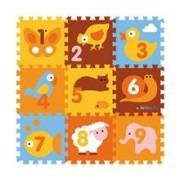 Covor Puzzle Din Spuma Animals 9 Piese