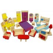 Babaház bútorok fából Dolls Furniture Set JT116