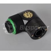 Fiting compresie rotativ 90 grade alama Bitspower G1/4 la 10/8mm, Matte Black