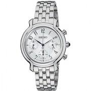 Seiko Chronograph White Dial Womens Watch - SRW875P1