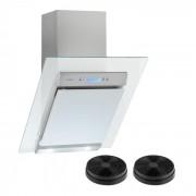 Klarstein Skycook, абсорбатор, комплект филтър с активен въглен, 60 cm, 640 m³/h, стъкло, неръждаема стомана (Set_Skycook+2Filter)