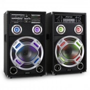 Skytec KA-12 Equipo de altavoces PA activo para karaoke USB (Sky-178.412)