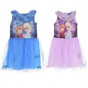 Disney Frost kortärmad klänning (Blå, 8 ÅR - 128 CM)