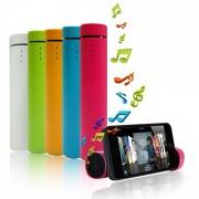 Mini Sistem Audio Portabil 3-in-1, Boxa, PowerBank 1000mAh si Suport Telefon + Cablu USB si Jack, Culoare Verde