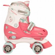 Geen Verstelbare roze kinder rolschaatsen