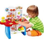 kids Mini Supermarket Play Set Battery Operated 34 Pcs (Multi Color)