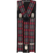 Eccellente Y- Back Suspenders for Men(Red, Black)
