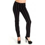 pantaloni uomo 3RDAND56th - Stripe Skinny - Blk / Grigio - JM1105