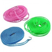 Evershine 5 Meter Nylon Clothesline Rope (Color May Vary) pack of 1
