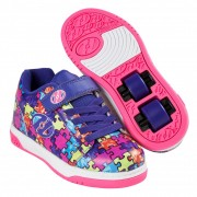 Heelys X2 Dual Up Purple/Neon Multi/Puzzle