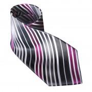 Distino Of Melbourne Nude Silk Necktie Silver/Pink N2