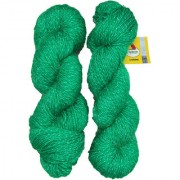 Vardhman Charming Green 200 Gm (2 Pc) hand knitting Soft Acrylic yarn wool thread for Art & craft Crochet and needle