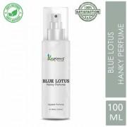 KAZIMA Blue Lotus Hanky Spray Perfume For Men Women 100ML - (Free From Gas)