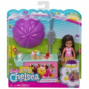 Barbie Chelsea cu Carucior de inghetata FDB33