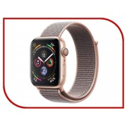 Умные часы APPLE Watch Series 4 44mm Gold Aluminium Case with Pink Sand Sport Loop MU6G2RU/A