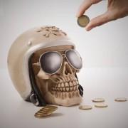 Dödskalle Motorcykelkille Sparbössa