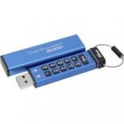 Kingston USB flash disk Kingston DataTraveler® 2000 DT2000/8GB, 8 GB, USB 3.1, modrá