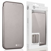 Caseflex Samsung Galaxy S7 Edge Leather-Effect Embossed Stand Wallet - Grey