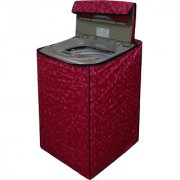 Dream Care Pink Colour with Square Design Washing Machine Cover for Fully Automatic Top Loading LG T7208TDDLP 6.2 KG