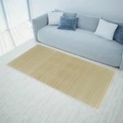vidaXL Правоъгълен естествен бамбуков килим 80 х 200 см