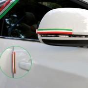 6 STKS Italiaanse Natie Vlag Stijl Rubber Auto Sticker Auto Crash Bar Bumper Strips