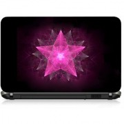 VI Collections PINK STAR PRINTED pvc Laptop Decal 15.5