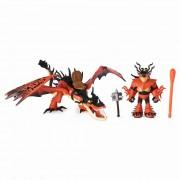 Figurine Dragon si Viking, Snotlout si Hookfang - Cum sa iti dresezi Dragonul 3