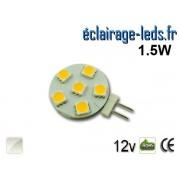 Ampoule led G4 6 led SMD 5050 blanc naturel 12v ref g4-07