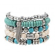 Trendy turquoise armbanden set Lovely