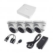 Epcom Kit de Vigilancia KESTXLT4EW de 4 Cámaras CCTV Domo y 4 Canales, con Grabadora