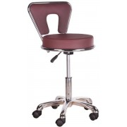 MEGA BEAUTY SHOP® Kruk met rugleuning - Burgund - Werkstoel