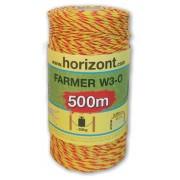 FARMER W3-O,fi.2,5 mm żółto-pomarańczowa, 500m