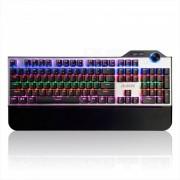ajazz Interruptor rojo portatil AK35 Teclado mecanico de juegos con cable USB 104 con soporte de mano? luz de fondo RGB