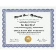 Altered State of Consciousness Altered States Degree: Custom Gag Diploma Doctorate Certificate (Funny Customized Joke Gift - Novelty Item)