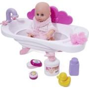 Papusa bebe Nini cu cadita si accesorii