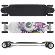 vidaXL Eyeball Pattern Drop-down Longboard 103 cm with Big Wheels