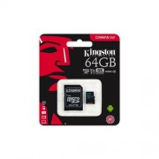 Kingston 64GB microSDXC Canvas GO (90R/45W U3 UHS-I V30 Card + SD Adaptér)