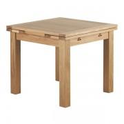 Oak Furnitureland Natural Solid Oak Dining Tables - 4 Seater Extendable Dining Table - Dorset Range - Oak Furnitureland