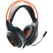 HEADPHONES, CANYON CND-SGHS7, 7.1, Microphone, orange LED backlight, Black