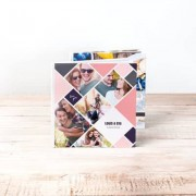 smartphoto Fotobuch Large Quadrat - Hardcover Lederlook