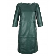 Alba Moda Kleid, Damen, grün, aus softem Lammnappa