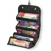 EUROS Travel Buddy 4 In 1 Roll N Go Cosmetic Bag Toiletry Organizer Jewelery Travel Toiletry Kit(Black)