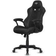 Spirit SILLA OF GAMER RACING BLACK , INCLINACIÓN / ALTURA REGULABLES , BRAZOS XL FIJOS , 5 RUEDAS 360º , HASTA 120KG