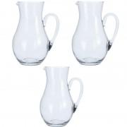 Geen 3x Glazen schenkkannen van 1,5 liter