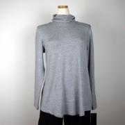 Cotonel Polo med vidd, gråmelange, lång ärm (Stl: M, XL, )