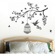 Walltola Pvc Headboard Design With Art Wall Sticker